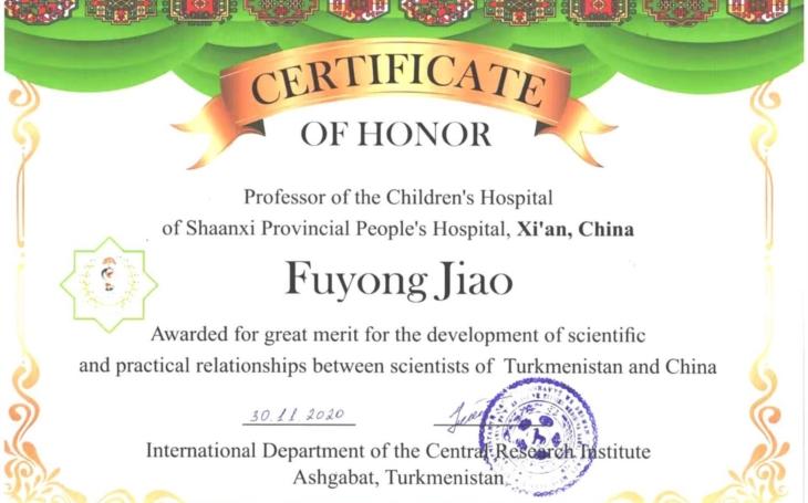 Congratulation to Professor Fuyong Jiao! Europe ad Asia share VIPs